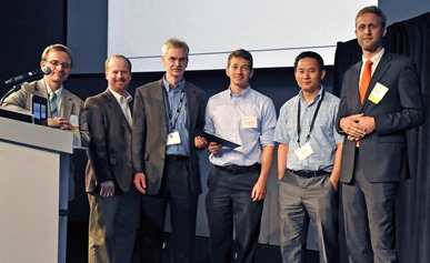 Dieffenderfer (fourth from the left) accepts the 'Best Paper Award' at BSN 2015.