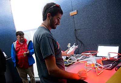 NC State's Aerial Robotics Team demonstrates UAV technology.