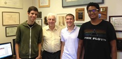 Andrew Ritosa (2nd from right) and FREEDM Center faculty mentor, Dr. George Karady (3rd from right) at ASU