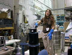 Hammock at her first job after college, working at the Laboratory for High Energy Astrophysics at NASA's Goddard facility in Greenbelt, Md.