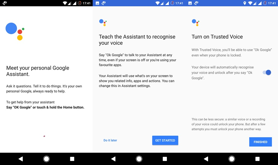 google assistant on marshmallow setup