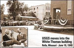 USGS moves into the White-Thomas building 1949