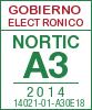 Sello de certificación de la A3:2014 con el NIU 14021-01-A30E18