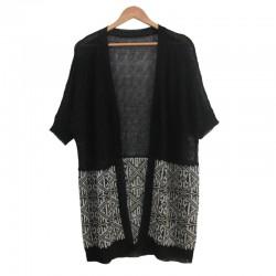 菱形花纹针织开衫mzbb0113