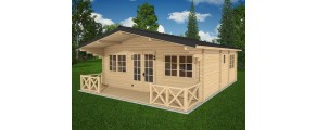 Two bed type C log cabin 6m x 9.5m