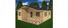 Two bed type E log cabin 6m x 7.5m
