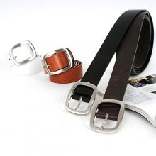 男针扣腰带休闲光板皮带N512