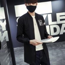 2016秋季新款中长款夹克男士薄款外套韩版修身上衣F8034