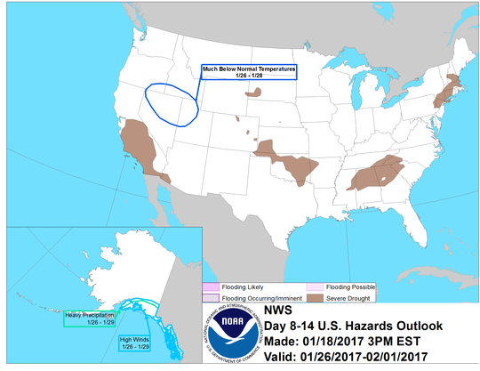 United States 8-14 Day Hazards Outlook