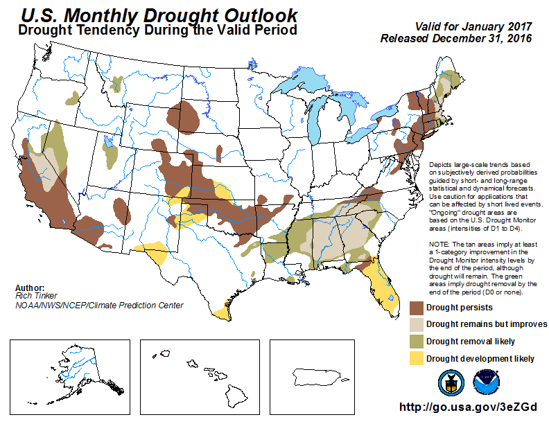 United States Monthly Drought Outlook