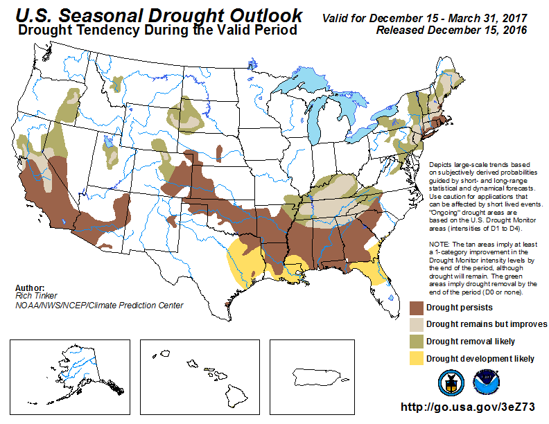 United States Seasonal Drought Outlook