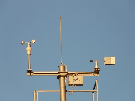 Weather station collecting meteorological data