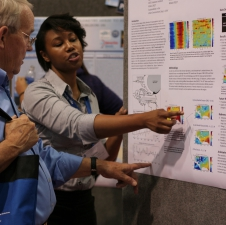 Equisha Glenn, a research fellow at The City College of New York, presented her project during the poster session at the NOAA EPP 7th Biennial Education and Science Forum.