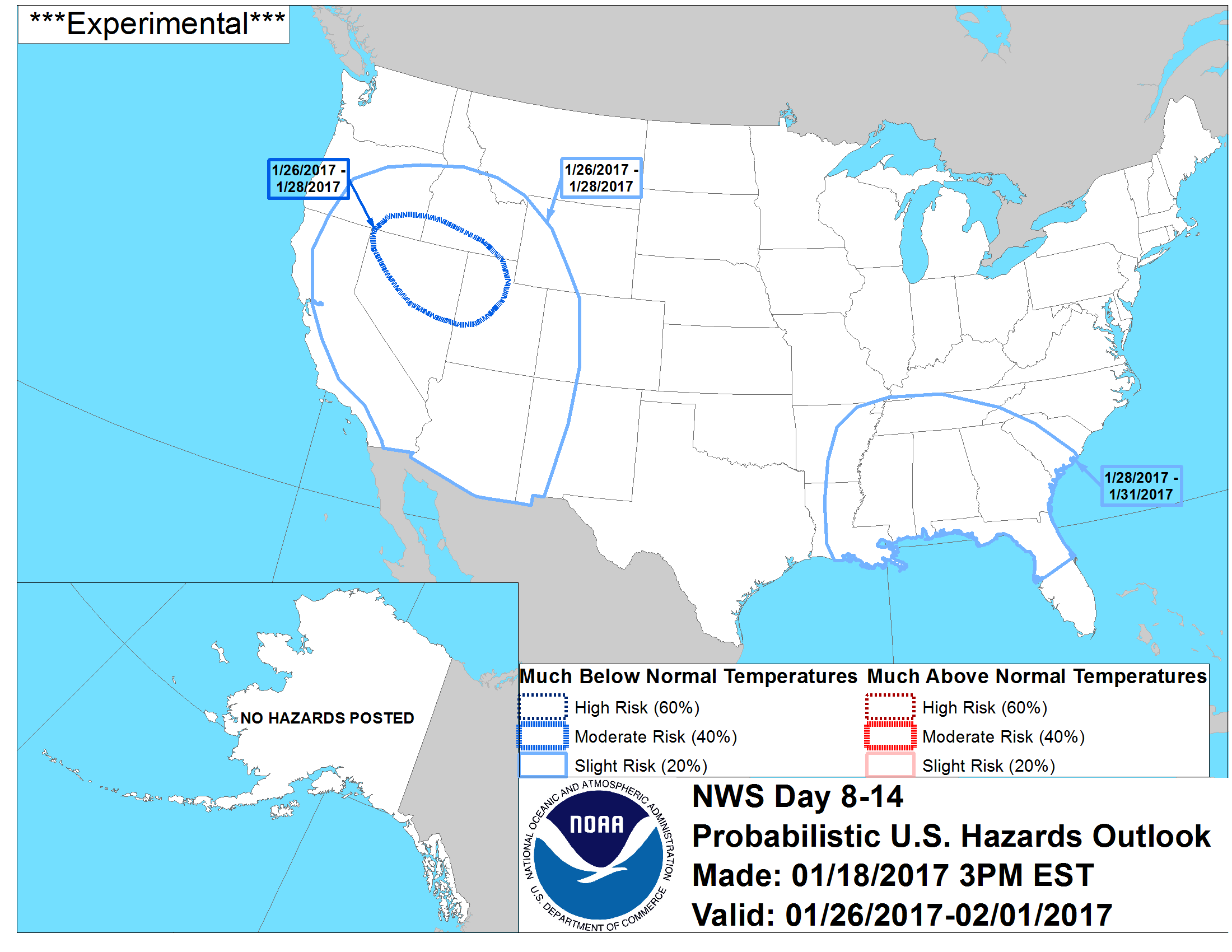 United States 8-14 Day Probabilistic Temperature Hazards Outlook
