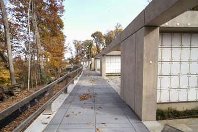ARLINGTON, Va. – Construction is nearing completion on three new columbariums, which are a part of Arlington National Cemetery's Millennium Project; a 27-acre expansion project, which adds nearly 30,000 burial and niche spaces to the cemetery here November 16, 2016. The $64 million project is scheduled to be complete and turned over to the cemetery this winter. (U.S. Army photo/Patrick Bloodgood)