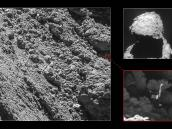 Philae found Credit: Main image and lander inset: ESA/Rosetta/MPS for OSIRIS Team MPS/UPD/LAM/IAA/SSO/INTA/UPM/DASP/IDA; context: ESA/Rosetta/NavCam – CC BY-SA IGO 3.0