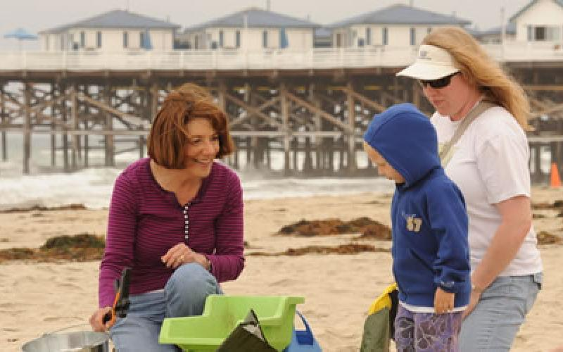 Susan joins a beach clean-up sponsored by Surfrider and Coastkeeper