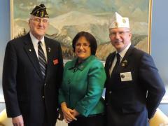 Rep. Kuster with veterans