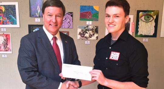 Rogers Congratulates Keanu McMurrey, winner of Third District Congressional Art Competition feature image