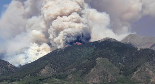 Photo of Ox Cart Fire in Rio Grande National Forest