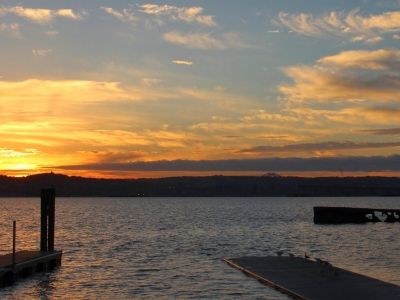 Hudson River view from Nyack, NY, in Rockland County.