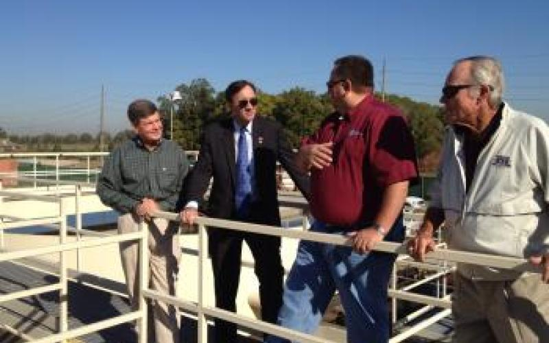 Congressman Olson touring the Sienna Plantation Waste Water Treatment Facility in Missouri City, Texas
