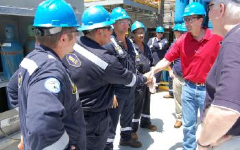 Congressman Pete Olson & Offshore Rig Employees