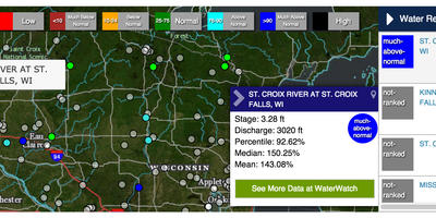 Current Wisconsin Water Conditions