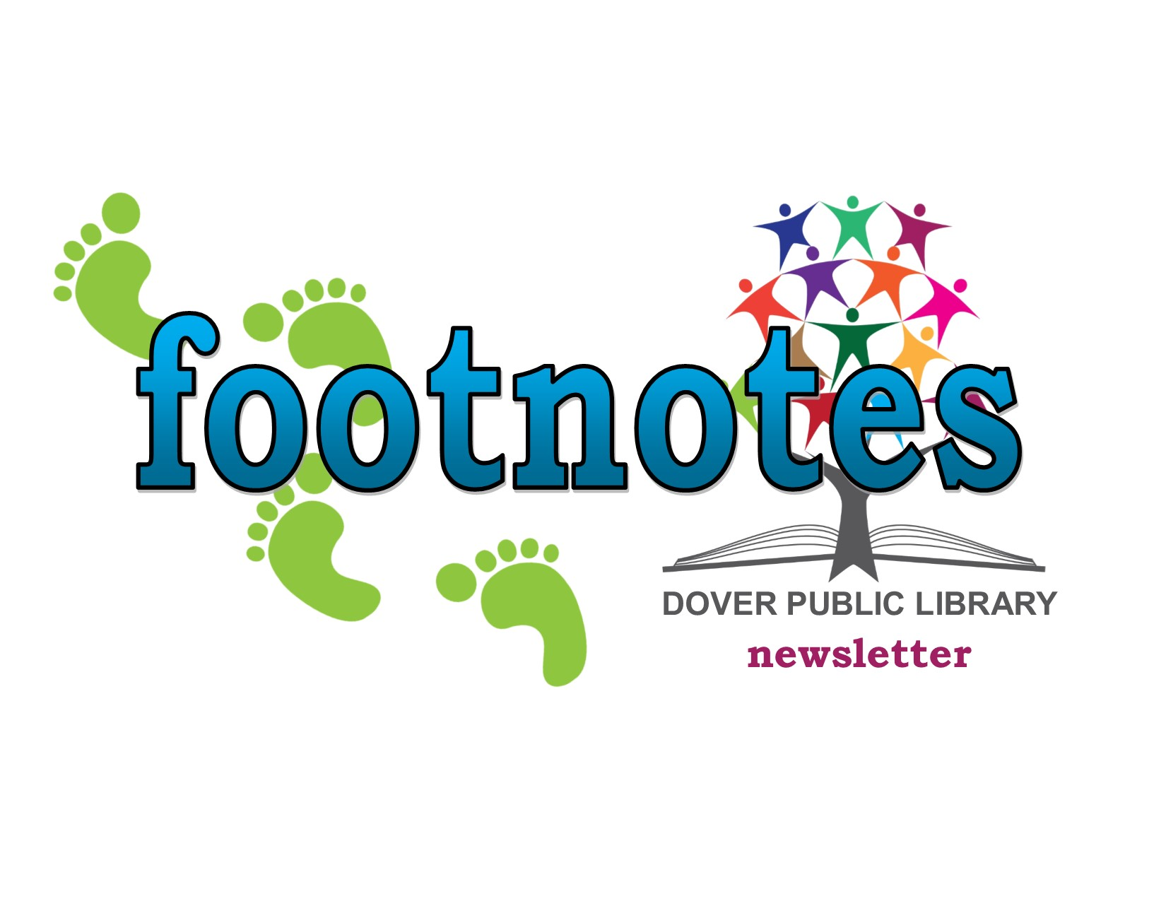 Footnotes the Dover Public Library newsletter logo