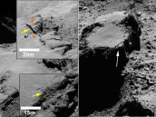 Fractures found on cliffs on Comet 67P/C-G Credit: ESA/Rosetta/MPS for OSIRIS Team MPS/UPD/LAM/IAA/SSO/INTA/UPM/DASP/IDA