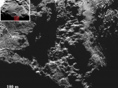 Round features in Imhotep (b) Credit: ESA/Rosetta/MPS for OSIRIS Team MPS/UPD/LAM/IAA/SSO/INTA/UPM/DASP/IDA