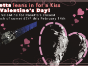 Rosetta leans in for a Kiss this Valentine's Day! Credit: NASA / JPL