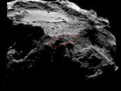 Lander search area Credit: ESA/Rosetta/MPS for OSIRIS Team MPS/UPD/LAM/IAA/SSO/INTA/UPM/DASP/IDA