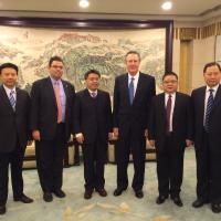 Kelly Welsh, third from right, meets in Wuhan, China with U.S. Consul General Joseph Zadrozny, Assistant Minister of Commerce Tong Daochi, Hubei Vice Governor Gan Rongkun, and other Hubei officials