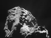 Comet on 1 January 2015 – NavCam Credit: ESA/Rosetta/NAVCAM – CC BY-SA IGO 3.0