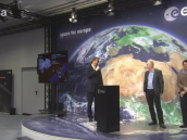 Rosetta media briefing at ESOC 10 November Credit: European Space Agency