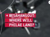 ESAHangout: Where will Philae land?  Credit: ESA