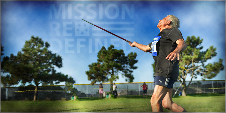 Banner Image of veteran at the Winter sports clinic