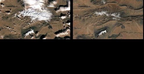 Rare Snow Falls at the Edge of Sahara Desert