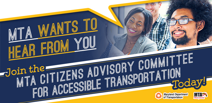 Join The Citizens Advisory Committee for Accessible Transportation Banner