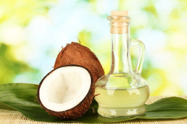 Cococnut oil for treating bumpy skin