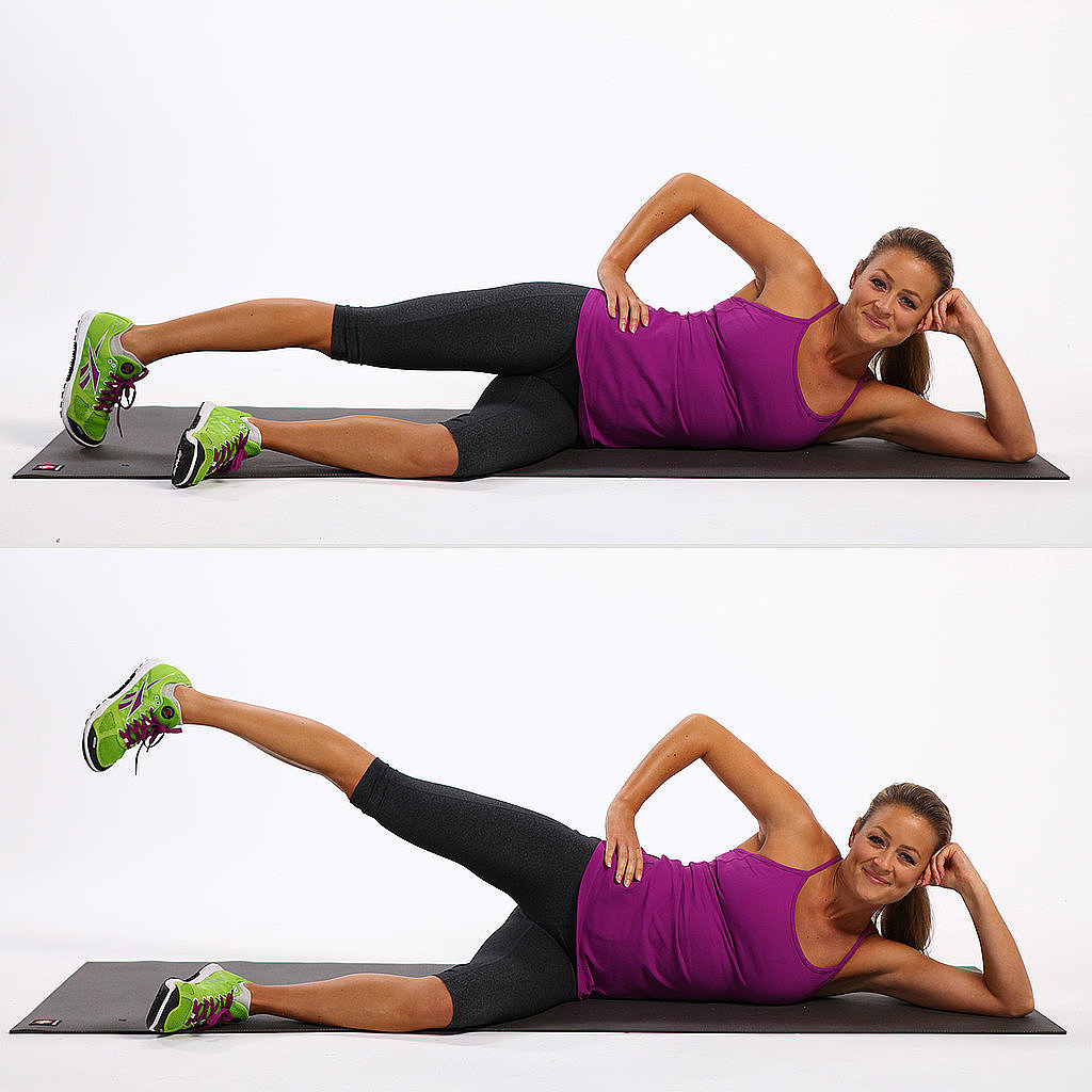 Lying lateral exercise for back pain