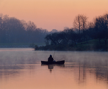 Early Morning Fishing by Lesley Flaim