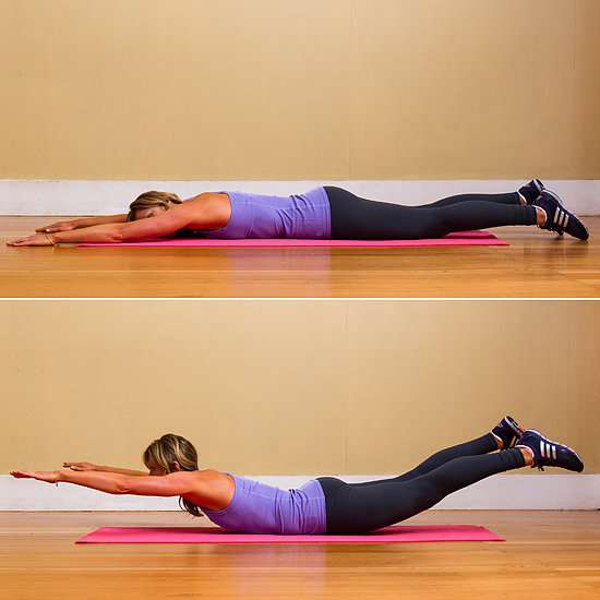 Superman exercise for pain relief