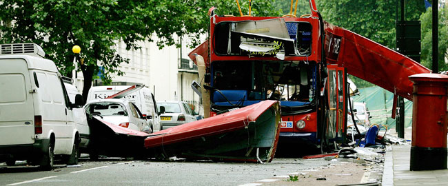 London, England Bus Bombing image