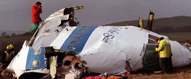 Pan Am Flight 103 wreckage image
