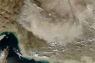 Dust Billows Over Iran