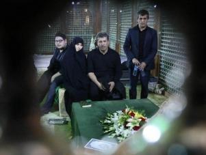 آخرین وداع خانواده با آیت الله