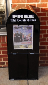 A County Times paper box in Leonardtown.