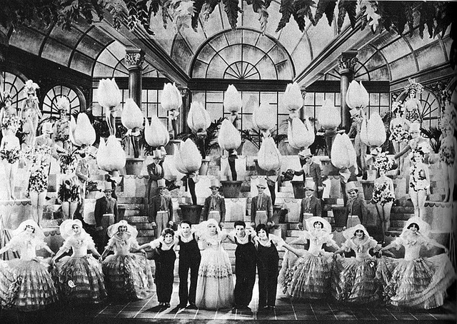 Gold Diggers of Broadway (1929). Note the giant tulips?oversized props preceded Berkeley in Hollywood, but nobody ever used them more imaginatively.
